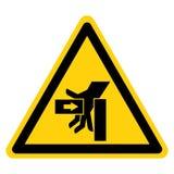 SHand-Zerstampfungs-Kraft vom linken Symbol-Zeichen, Vektor-Illustration, Isolat auf wei?em Hintergrund-Aufkleber EPS10 lizenzfreie abbildung