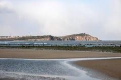 Shandong Penglai Penglai Osiem Immortals które łapią port morskiego Obraz Stock
