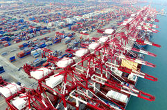 Shandong Qingdao Port Container Terminal Royalty Free Stock Photo