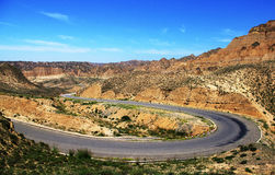 Shandong and Qinghai Road Royalty Free Stock Images