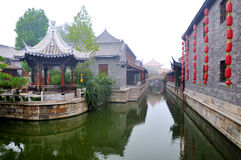 Shandong Zaozhuang ancient architecture Stock Photos