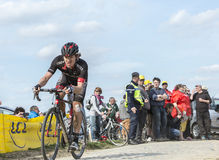 Shane Archbold on Paris Roubaix 2015 Stock Image