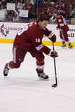 Shane Doan during Practice. Shane Doan is a Canadian professional ice hockey forward with the Phoenix Coyotes of the National Hockey League royalty free stock photo