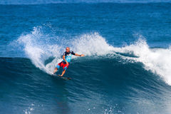 Shane Dorian Surfing in the Pipeline Masters Stock Images