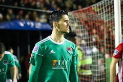 Shane Griffin at League of Ireland Premier Division match Cork City FC vs Derry City FC. March 1st, 2019, Cork, Ireland - Shane Griffin at League of Ireland stock photography