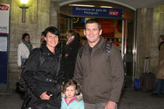 Shane Perry arrive to Perpignan Royalty Free Stock Image