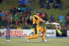 Shane Watson Australian Batsman. Is bowled against England, 1st semi-final, Champions Trophy, Centurion Park, October 2, 2009 Stock Photography