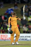Shane Watson celebrates on his century Royalty Free Stock Photos