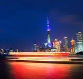 Shang Hai, Китай ноча жизни стоковые фото