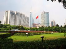 Shang Hai in the afternoon sunny day. Shanghai, China - July 21t. H, 2016 Royalty Free Stock Photography