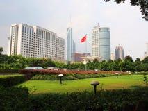 Shang Hai am sonnigen Tag des Nachmittages Shanghai, China - 21. Juli t Lizenzfreie Stockfotografie