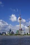 Shangai céntrica Foto de archivo libre de regalías