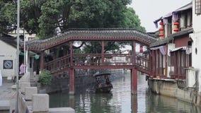 Shangai China 9 de septiembre de 2013, ciudad antigua de Zhujiajiao llam? Shangai Venecia metrajes