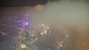 Shangai, China - 11 de septiembre de 2013: Vista aérea del centro de negocios de Lujiazui, Shangai China almacen de metraje de vídeo