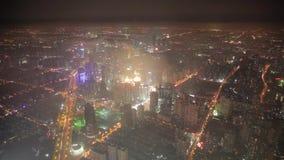 Shangai, China - 11 de septiembre de 2013: Vista a?rea del centro de negocios de Lujiazui, Shangai China metrajes