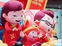 Shangai, China - enero 26, 2019: Festival de linterna en el año chino del cerdo del Año Nuevo en el jardín de Shangai Yuyuan imagenes de archivo