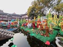 Shangai, China - febrero 2, 2016: Festival de linterna en el Año Nuevo chino (año del mono) Fotografía de archivo