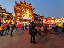 Shangai, China - febrero 2, 2016: Festival de linterna en el Año Nuevo chino (año del mono) Imágenes de archivo libres de regalías