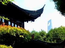 Shangai city. Buildings in shangai financial city Stock Photos
