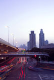 Shangai en la noche imagen de archivo libre de regalías