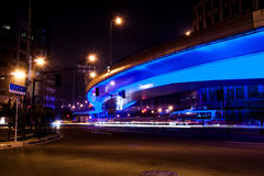 Shangai Streetview en la noche Imagenes de archivo