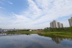 Shangai suburbana Fotos de archivo libres de regalías