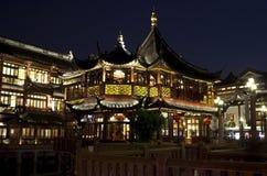 Shangai vieja en la noche Imágenes de archivo libres de regalías