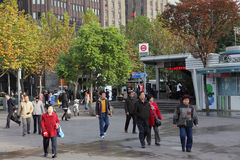 станция shanghai метро Стоковые Изображения RF