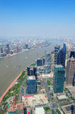 Shanghai aerial in the day Stock Photography