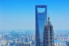 Shanghai aerial in the day Royalty Free Stock Images