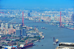 Shanghai aerial in the day Royalty Free Stock Image