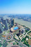 Shanghai aerial in the day Stock Photo