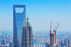 Shanghai aerial in the day Royalty Free Stock Photo