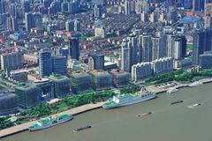 Shanghai aerial in the day Stock Images
