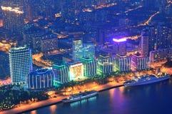 Shanghai aerial at dusk Stock Photo