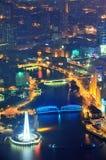 Shanghai aerial at dusk Stock Photography
