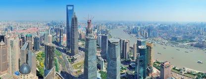 Shanghai aerial panorama Royalty Free Stock Image