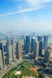 Shanghai aerial view Stock Photos