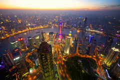 Shanghai aerial view Royalty Free Stock Photography