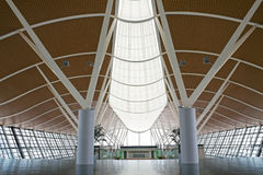 Shanghai, airport Pudong interior Stock Photos