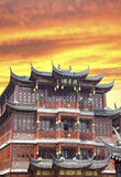 Shanghai-alte Stadt Stockfoto