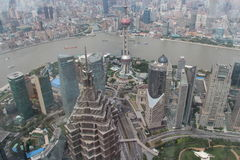 Shanghai-Ansicht vom höchsten Turm lizenzfreie stockbilder