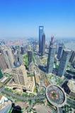 Shanghai antenn i dagen Royaltyfri Fotografi