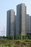 Shanghai apartment buildings Stock Photos