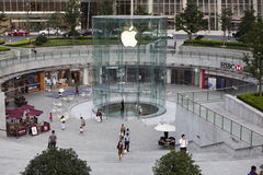Shanghai: apple store. The apple flagship store located at International Financial Center on century avenue in pudong district, shanghai, china Stock Images