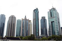 Shanghai - arranha-céus moderno Fotos de Stock