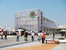 Shanghai-Ausstellung 2010 TurkmenistanPavilion lizenzfreie stockbilder