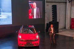 Shanghai auto show 2017 LYNK- & för Co 01 bil Arkivfoton