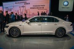 Shanghai Auto Show 2017 VW Phideon. Volkswagen Phideon large sedan PHEV plugin hybrid at the 2017 Shanghai Auto Show Stock Images