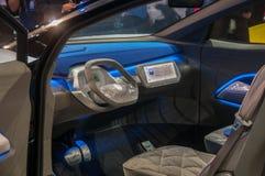 Shanghai Auto toont het binnenland van identiteitskaart van VW van 2017 Stock Afbeeldingen